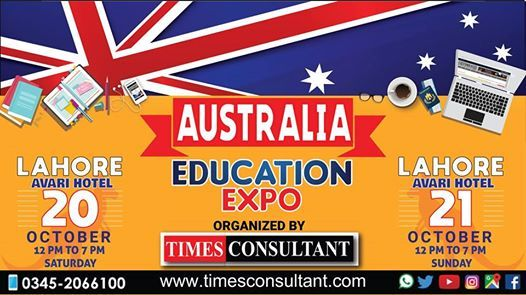 Australia Education Expo in Lahore (12pm to 7pm)