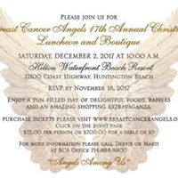 Breast Cancer Angels 17th Annual Christmas Luncheon and Boutique