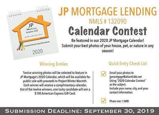 Best Mortgage Lenders 2020.2020 Photo Calendar Contest At Jp Mortgage Lending Llc