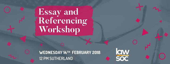 Essay and Referencing Workshop