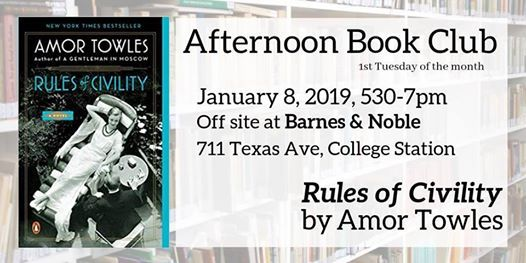 January 2019 Afternoon Book Club At Barnes Noble College Station