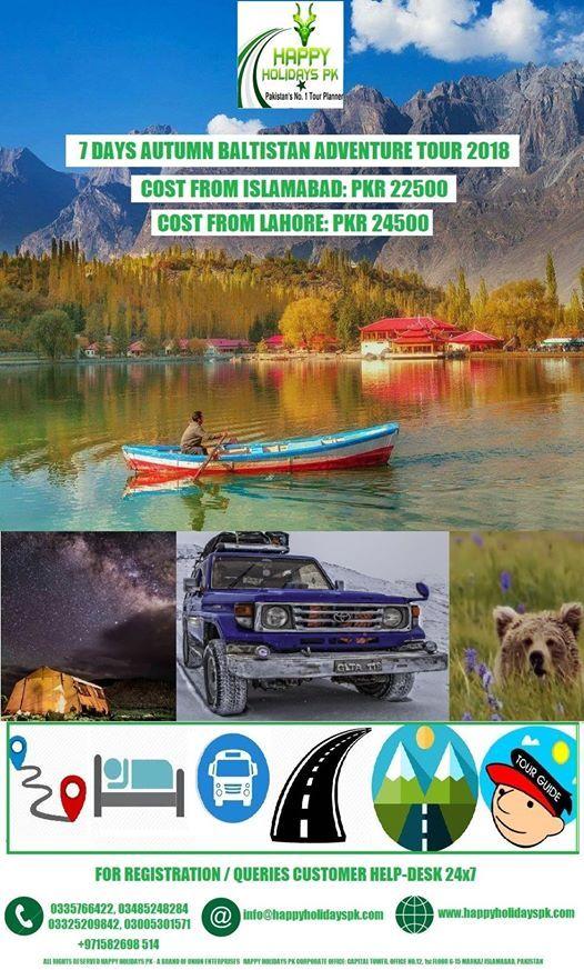 7 Days Autumn Baltistan Adventure Tour 2018