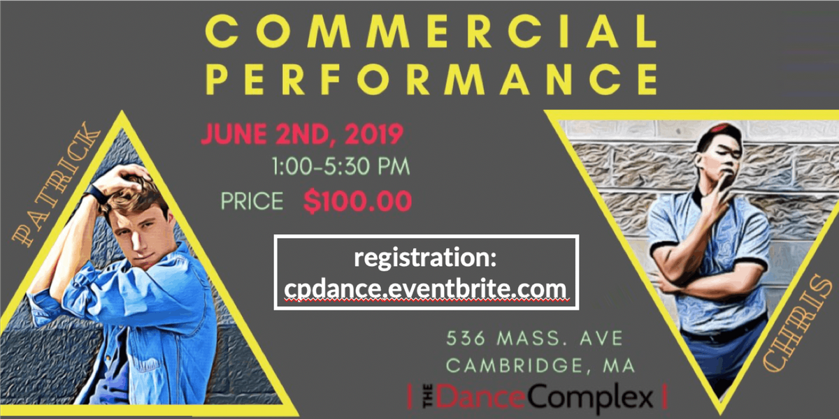 Dance Growth: Commercial Performance Workshop at The Dance Complex