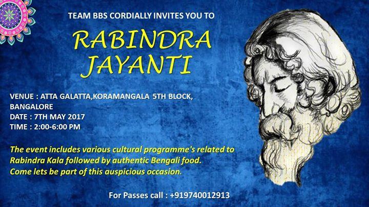 Rabindra Jayanti 2017 At Atta Galatta Bangalore