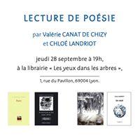 Soire posie Valrie Canat de Chizy et Chlo Landriot