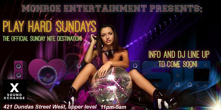 Monroe Entertainment presents play hard Sundays