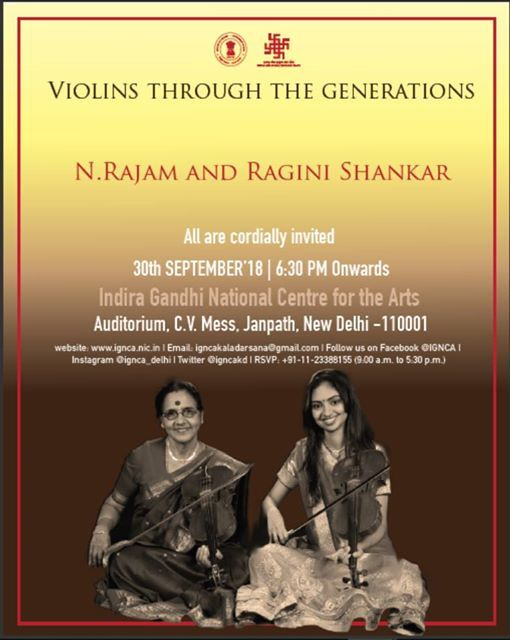 Purnima Concert Series- Violins Through the Generations