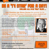 Be a Tv Star for a Day Kids Tv Summer Workshop