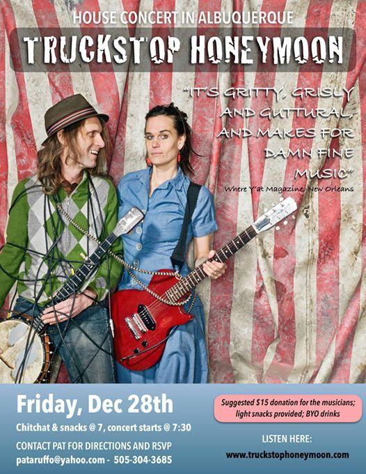 Truckstop Honeymoon house concert at Albuquerque, New Mexico