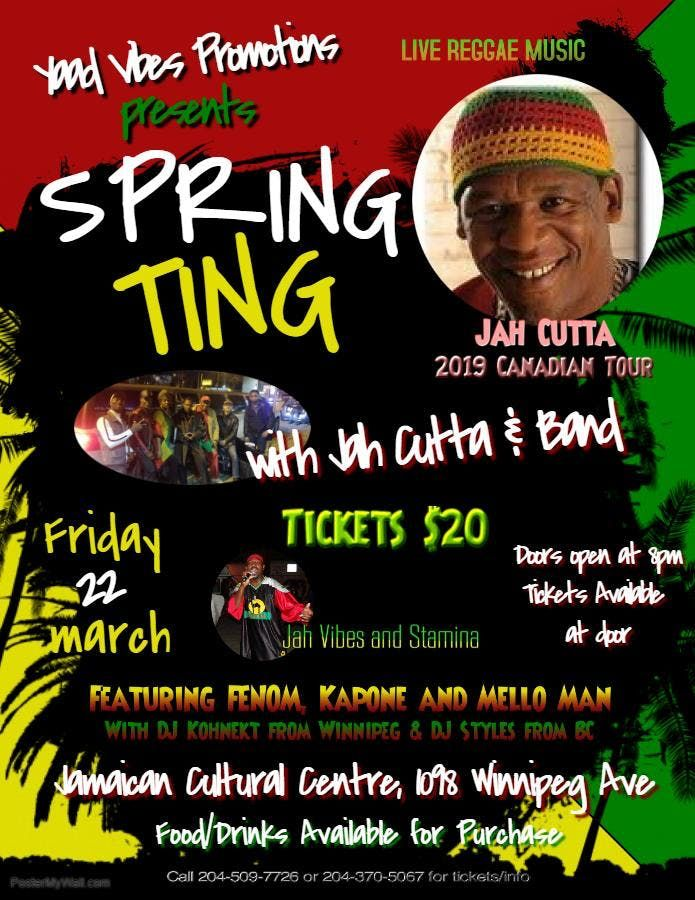 Spring Ting featuring JAH CUTTA JAH VIBES STAMINA and FENOM