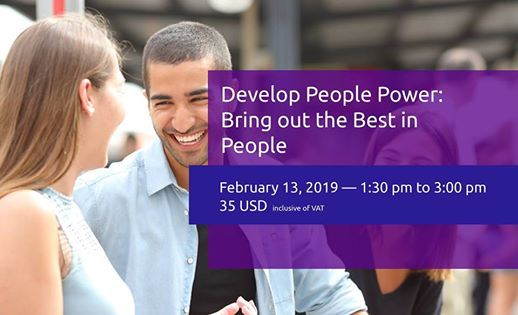 Develop People Power Bring Out the Best in People