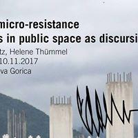 Workshop gestures of micro-resistance