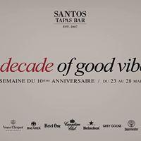 Santos  10th anniversary week  A decade of good vibes