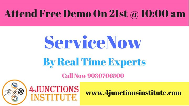 ServiceNow Course Training & Certification Free Demo at 1st Floor ...