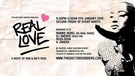 Real Love - A Night of RnB & 80s Soul