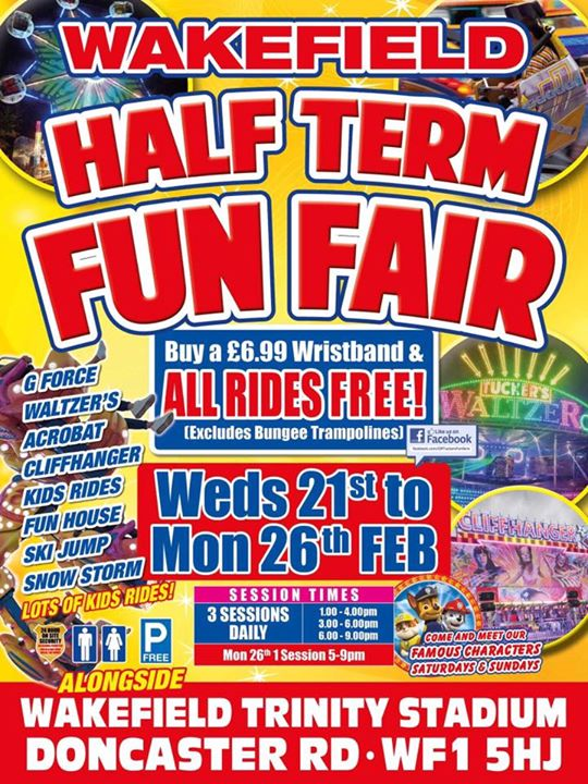 Wakefield Half Term Fun Fair