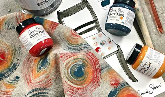 Tehnici de vopsirea textilelor cu Annie Sloan Chalk Paint