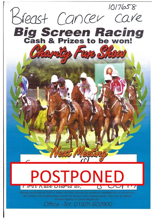Charity race night. Cancelled