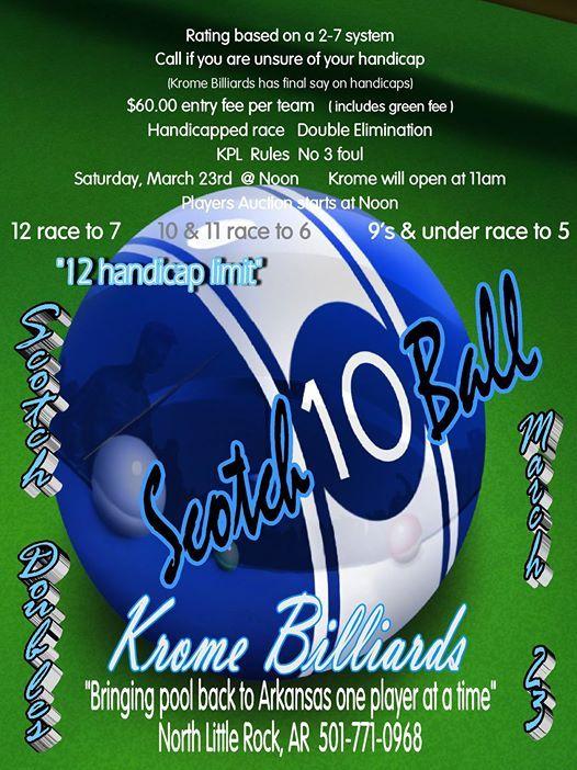 H12 Scotch Dbls 10 Ball Tournament