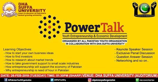 Power Talk on Youth Entrepreneurship and Economic Development