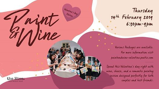 Paint & Wine Valentine Edition