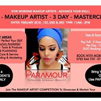 Launching the Paramour Pro-Makeup Artist 3 Day Masterclass