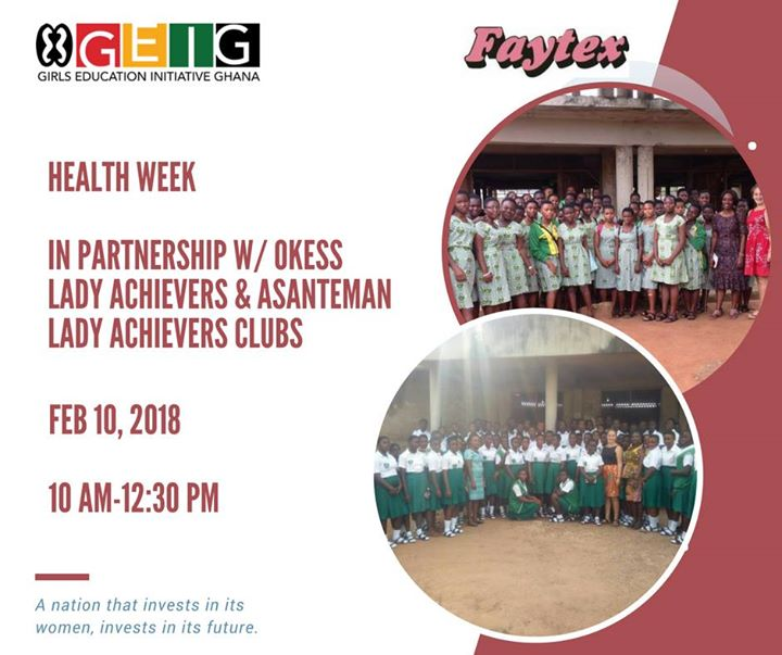 GEIG & Faytex Health Week at Asanteman Senior High School, Kumasi