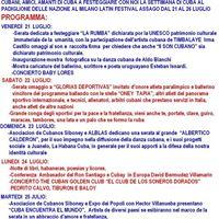 Semana De Cuba Al Milano Latin Festival Assago 2126-7- 2017