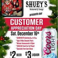 COME BE MERRY AT SHUEYS Annual customer appreciation party