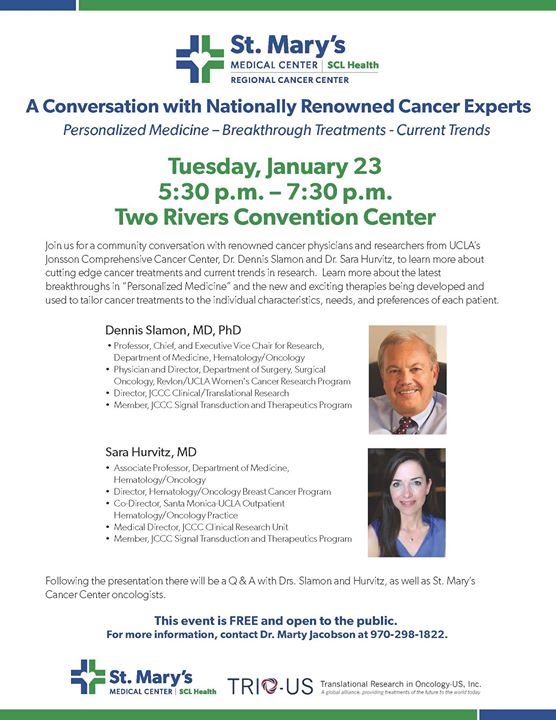 A Conversation with Nationally Renowned Cancer Experts at