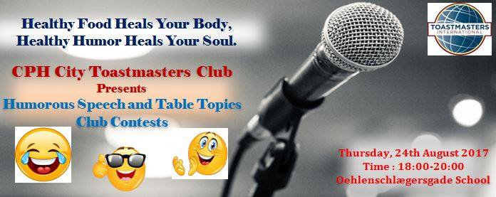 Humorous Speech and Table Topics Club Contests at Copenhagen