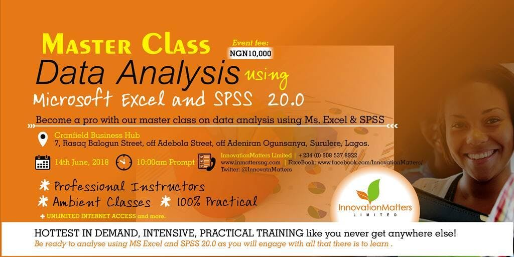 Master Class Data Analysis using Microsoft Excel and SPSS