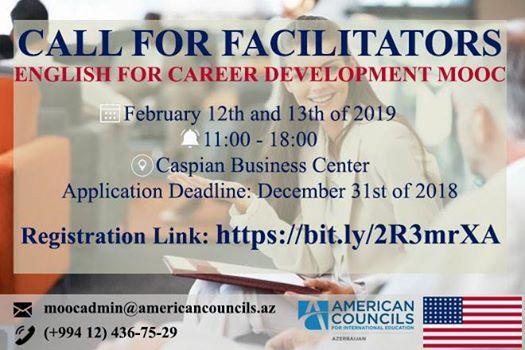 Call for Facilitators-English for Career Development MOOC