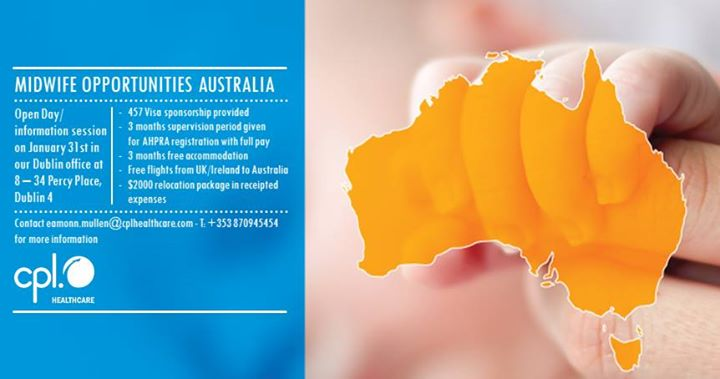 Open Day for Midwife Opportunities in Australia
