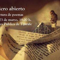 Micro abierto. Lectura de poemas en Tijarafe.