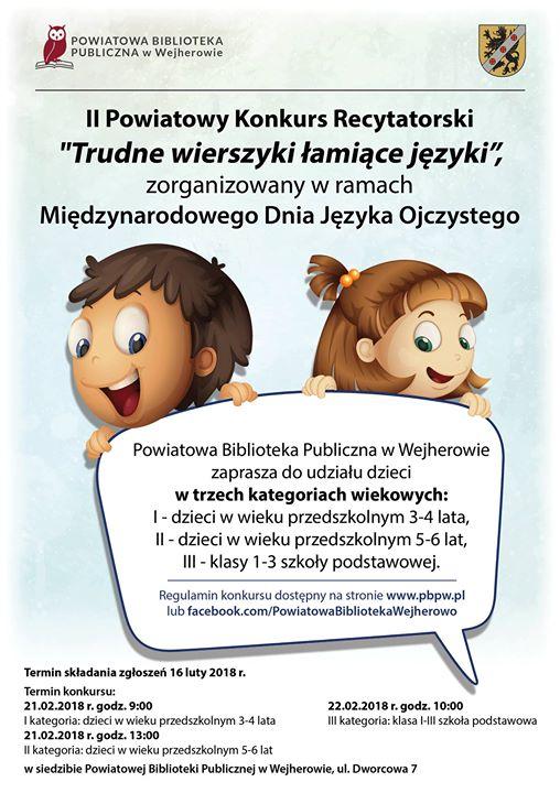 Konkurs Recytatorski Trudne Wierszyki łamiące Języki At
