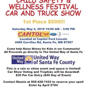 Child Safety And Wellness Festival Car Truck Show At