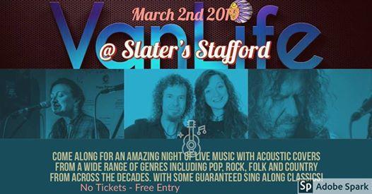 VanLife Live at Slaters Stafford