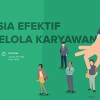 HR in Tech 2018 Rahasia Efektif Mengelola Karyawan
