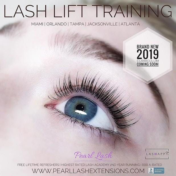 Lash Lift & Tint With Keratin Training Hosted by Pearl Lash Miami