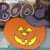 Annual Halloween Window Painting