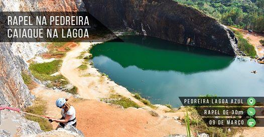 Rapel na Pedreira e Caiaque na Lagoa Azul