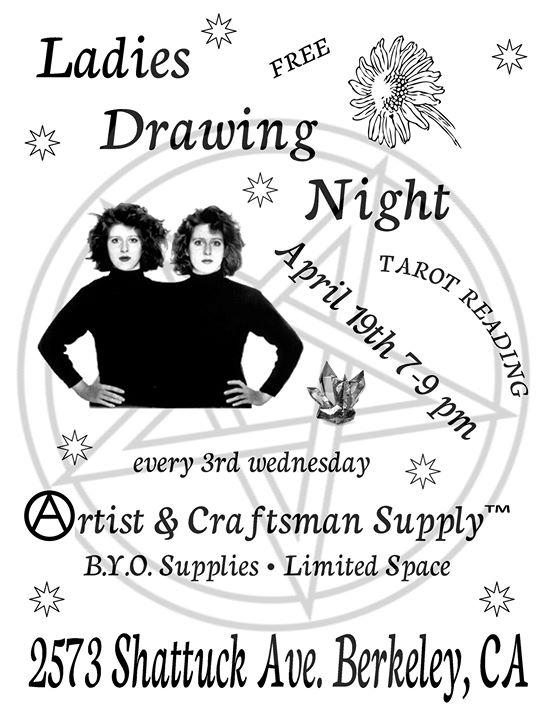 Ladies Drawing Night At Artist Craftsman Supply Berkeley Berkeley