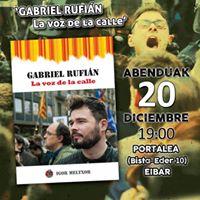 Presentacin del libro Gabriel Rufin la voz de la calle