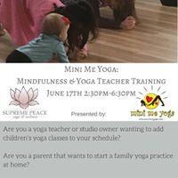 Mini Me Yoga Mindfulness &amp Yoga Teacher Training