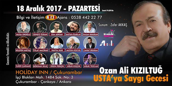 Ozan Ali KIZILTU - Ustaya Sayg Gecesi