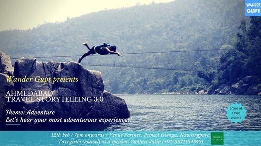 Ahmedabad Travel Storytelling 3.0 Open Mic (Theme Adventure)