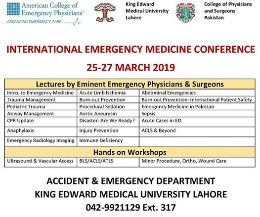 International Emergency Medicine Conference at King Edward Medical