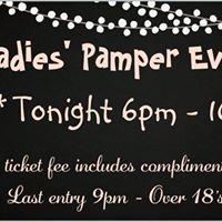 Saturday 16th December - Ladies Pamper Evening