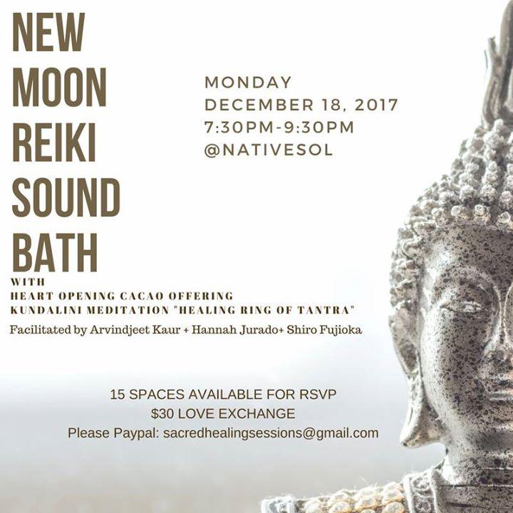New Moon Reiki Sound Bath & Healing Ring of Tantra